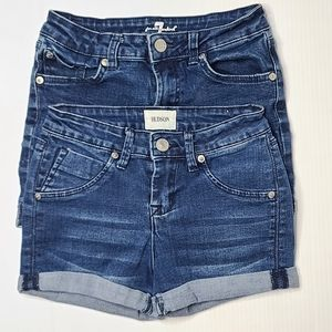 Hudson 7 For All Mankind 12 Girls Jean Blue Shorts